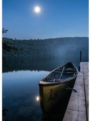 Barque au clair de lune