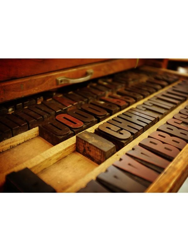Tampons d'imprimerie vintage